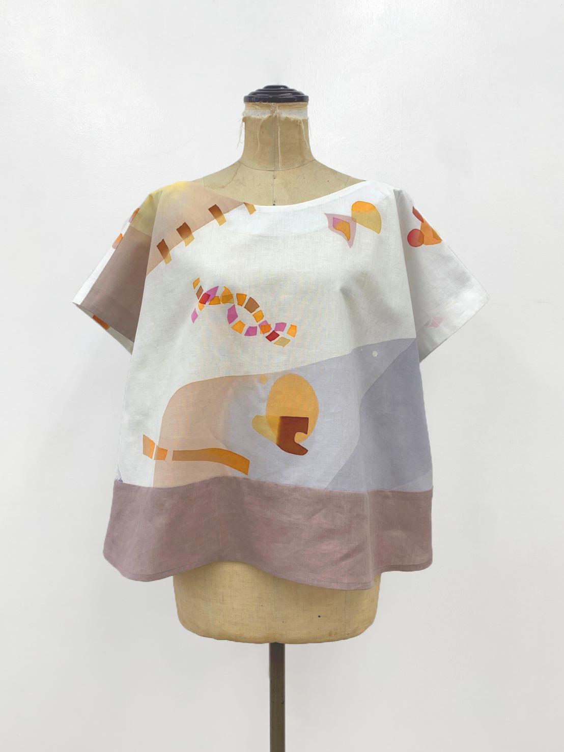 「傘のむこう」イイダ傘店コラボレーションアイテム blouse 「ナイスなおでん」