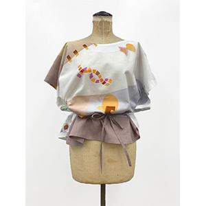 「傘のむこう」イイダ傘店コラボレーションアイテム blouse 「ナイスなおでん」_03