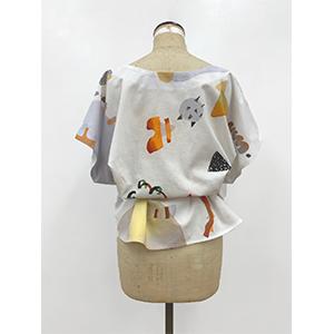 「傘のむこう」イイダ傘店コラボレーションアイテム blouse 「ナイスなおでん」_04