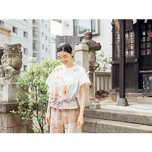「傘のむこう」イイダ傘店コラボレーションアイテム blouse 「ナイスなおでん」_05