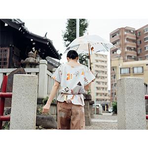 「傘のむこう」イイダ傘店コラボレーションアイテム blouse 「ナイスなおでん」_06