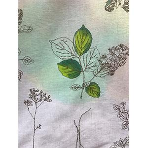 「傘のむこう」イイダ傘店コラボレーションアイテム open coller shirt 「押し花と夏風」_03