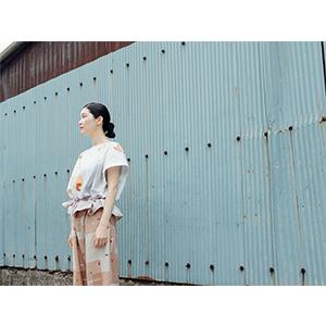 「傘のむこう」イイダ傘店コラボレーションアイテム blouse 「ひばり」_05