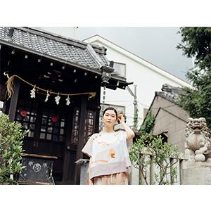 「傘のむこう」イイダ傘店コラボレーションアイテム blouse 「ひばり」_06