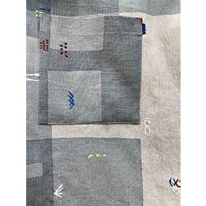 「傘のむこう」イイダ傘店コラボレーションアイテム open coller shirt 「夕方の星空」「朝焼けの星空」_04