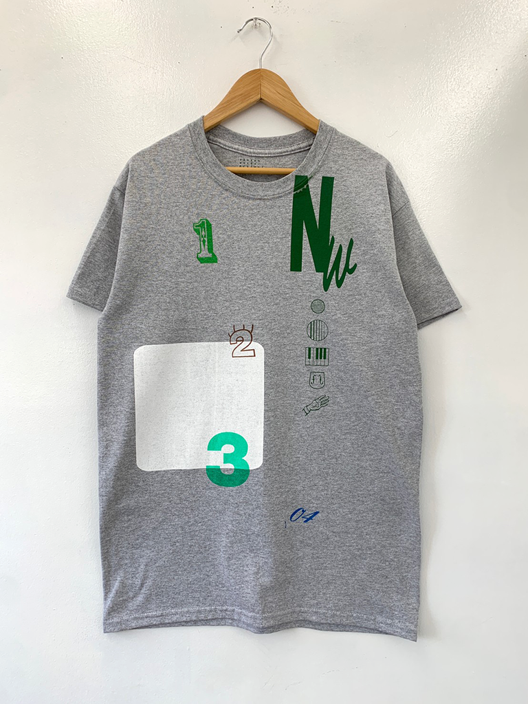 [完全受注生産品]Nathalie Wise collaboration Tshirt grey Special「No.」