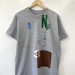 [完全受注生産品]Nathalie Wise collaboration Tshirt grey Special「No.」_05