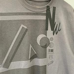 [完全受注生産品]Nathalie Wise collaboration Tshirt charcoal Special「街風」_04