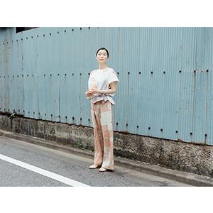 「傘のむこう」イイダ傘店コラボレーションアイテム pant 「朝焼けの星空」_06