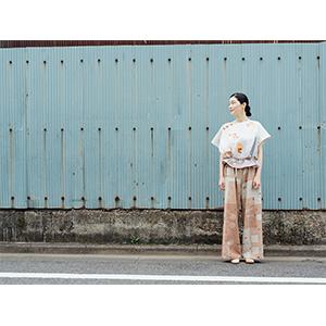 「傘のむこう」イイダ傘店コラボレーションアイテム pant「夕方の星空」_03