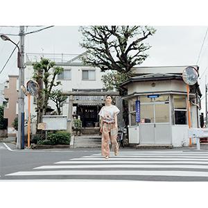 「傘のむこう」イイダ傘店コラボレーションアイテム pant「夕方の星空」_04