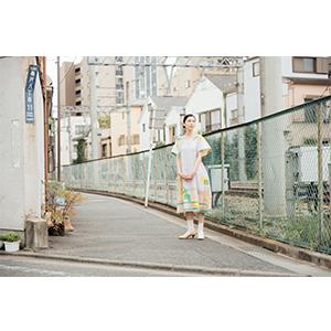 「傘のむこう」イイダ傘店コラボレーションアイテム one-piece 「ひばり」_07