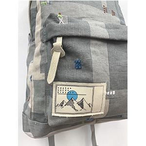 「傘のむこう」イイダ傘店コラボレーションアイテム day pack 「夕方の星空」_03