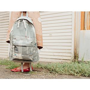 「傘のむこう」イイダ傘店コラボレーションアイテム day pack 「夕方の星空」_04
