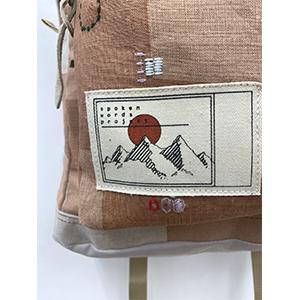 「傘のむこう」イイダ傘店コラボレーションアイテム day pack 「朝焼けの星空」_03